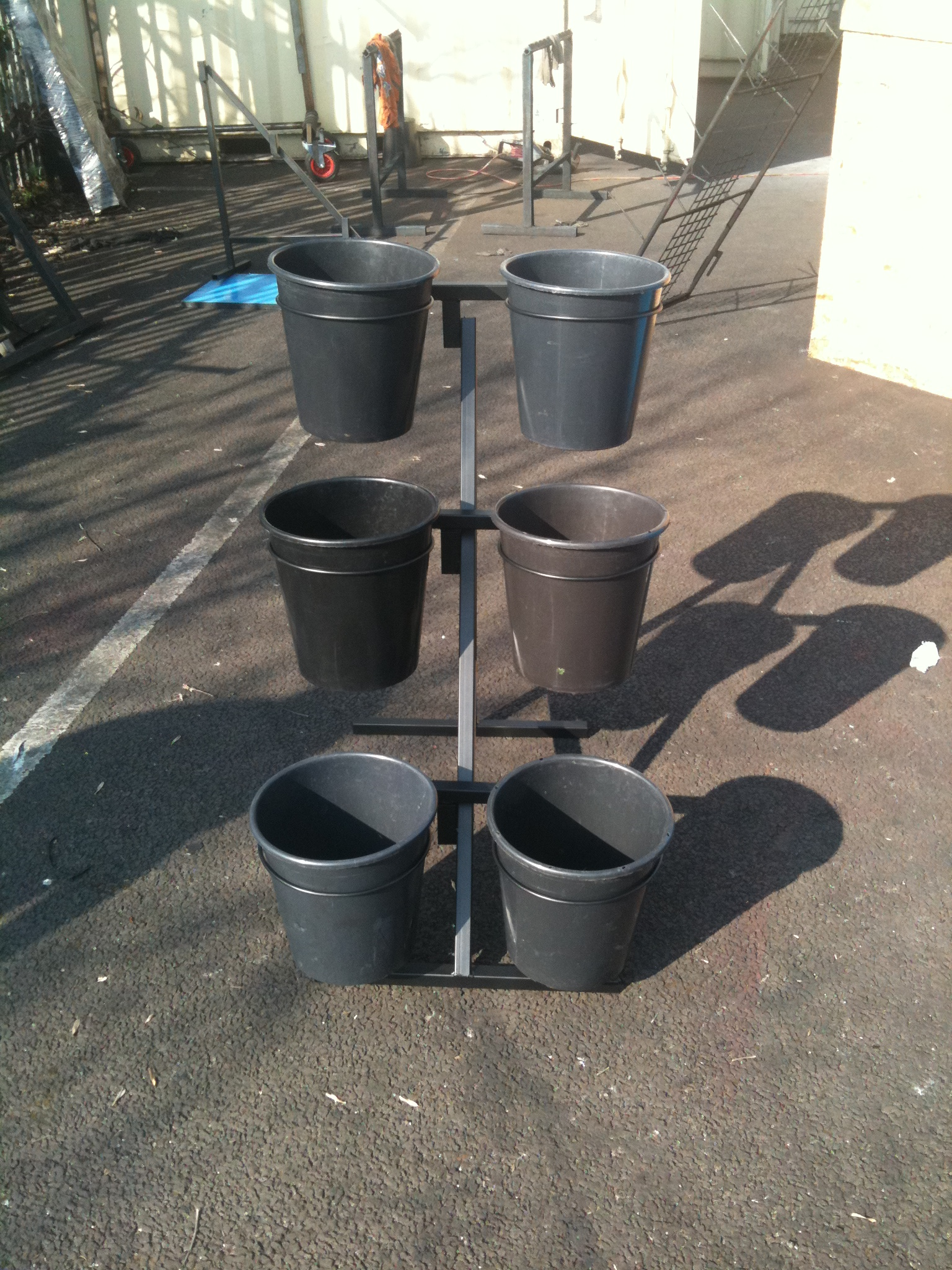 6 Bucket Flower Stand Uk Display Stands Shop