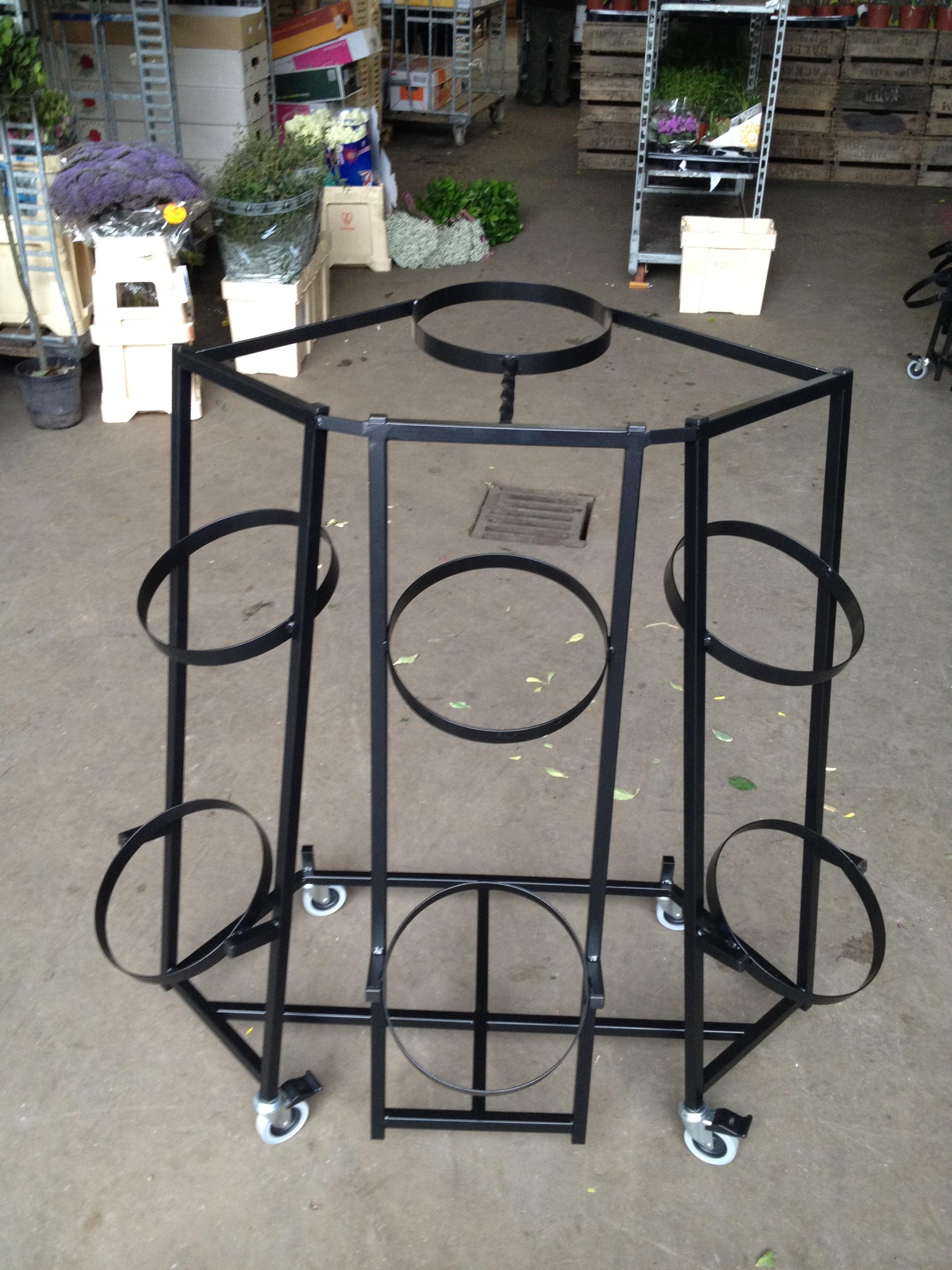 7 Bucket Flower Display Stand