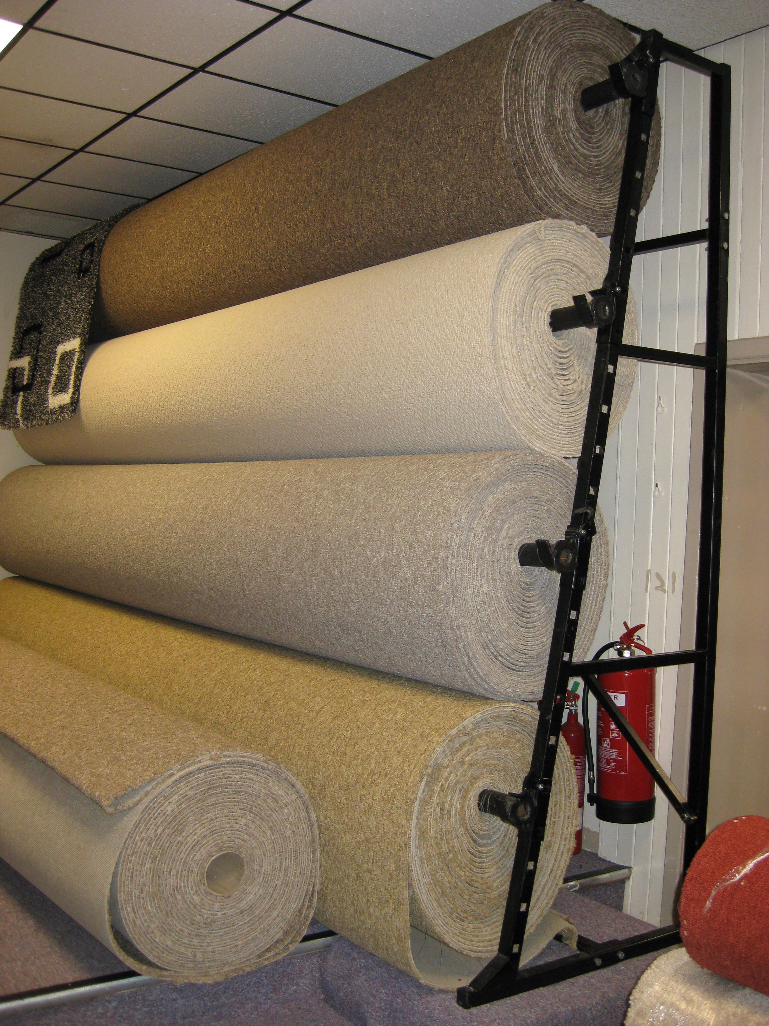 4 Roll Single Sided Carpet Stand 5m Uk Display Stands