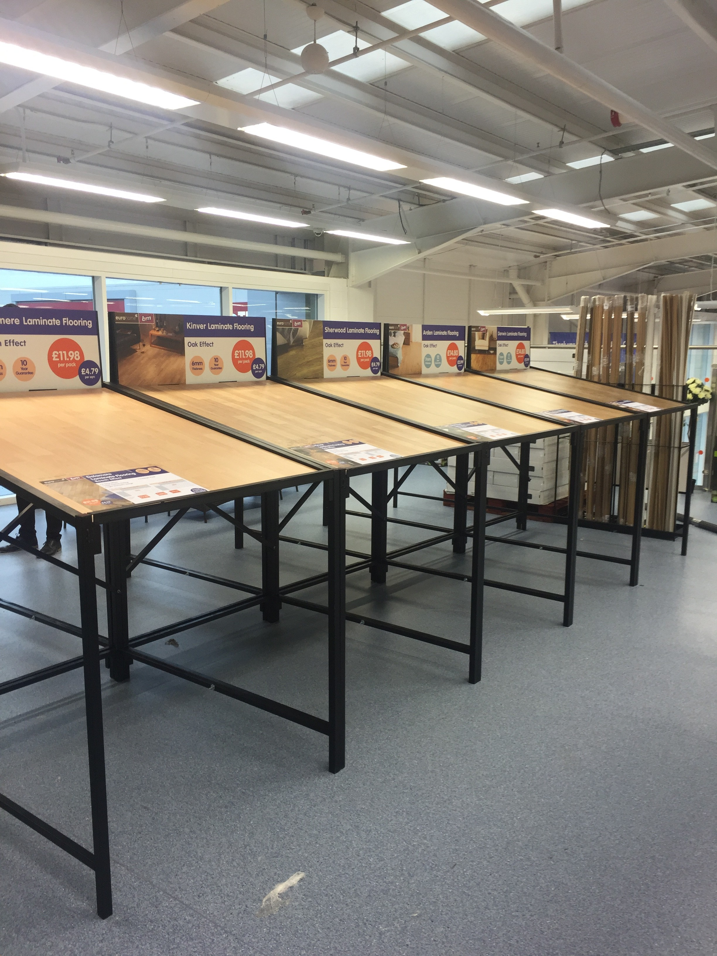 Laminate table b and m 3 uk display stands for Laminate flooring displays