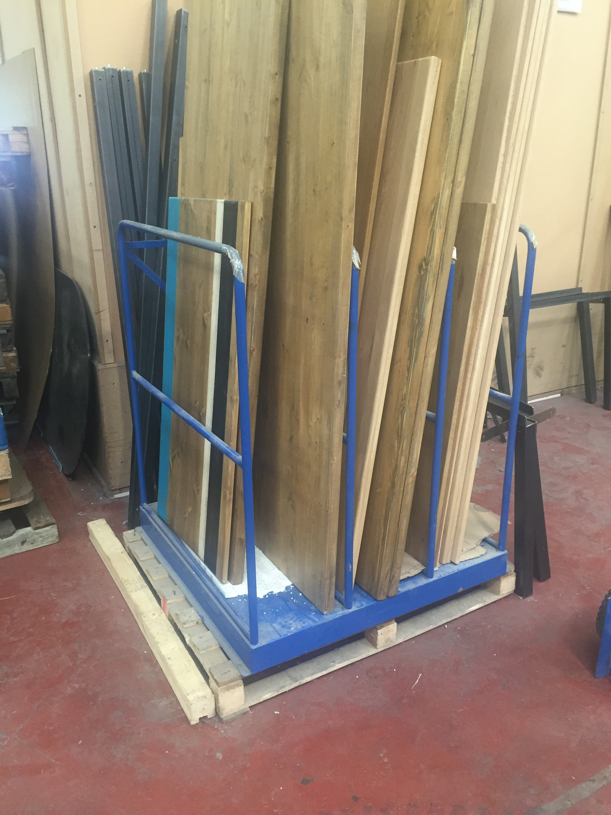 Safety equipment archives uk display stands for Vertical lumber storage rack