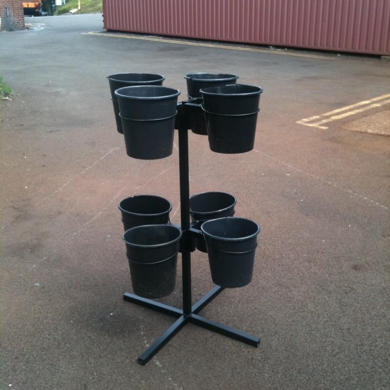 8 Bucket Flower Stand Uk Display Stands