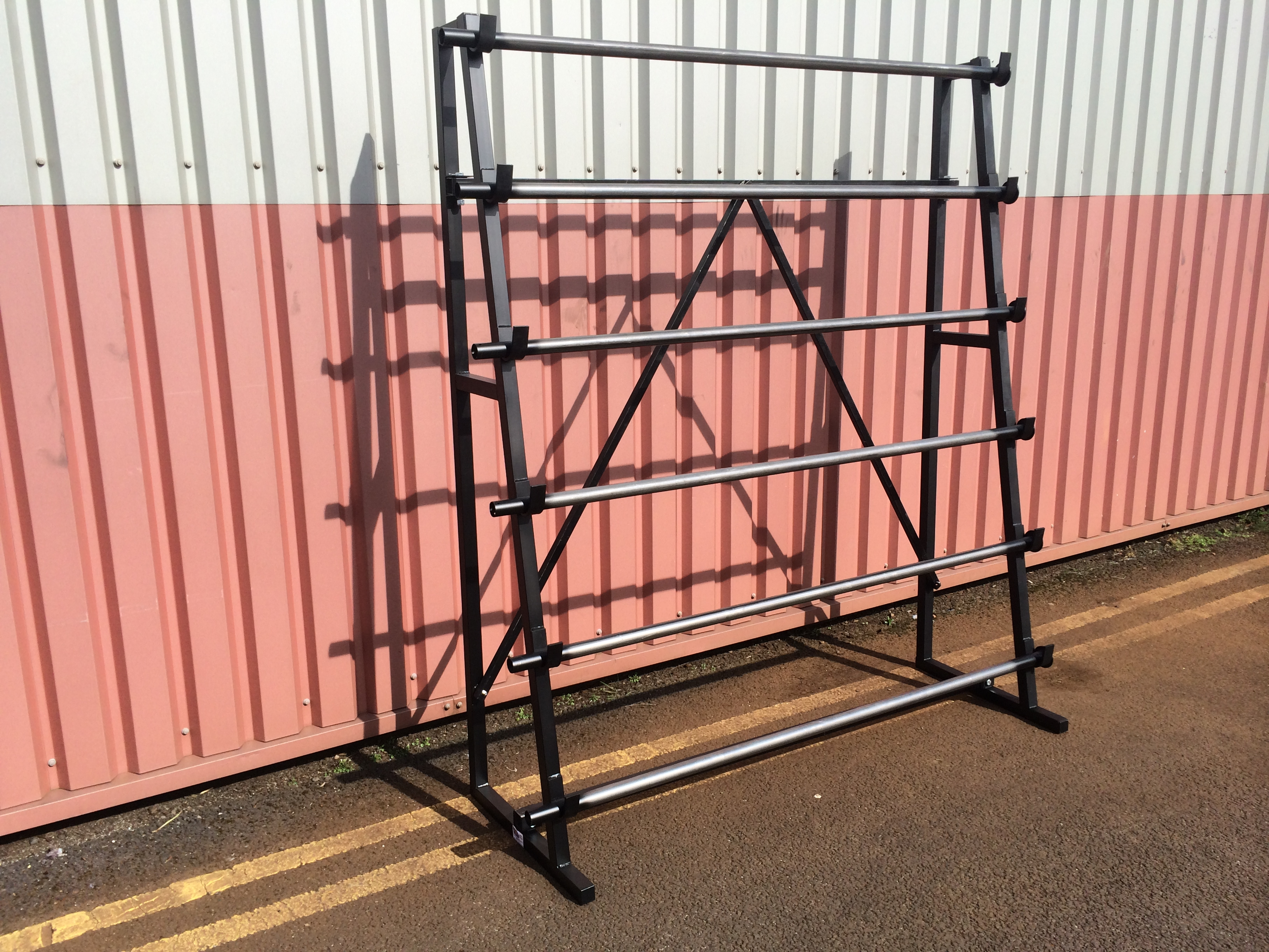 vinyl matting anti roll storage small static rack uk wide product display steel stand stands sheet
